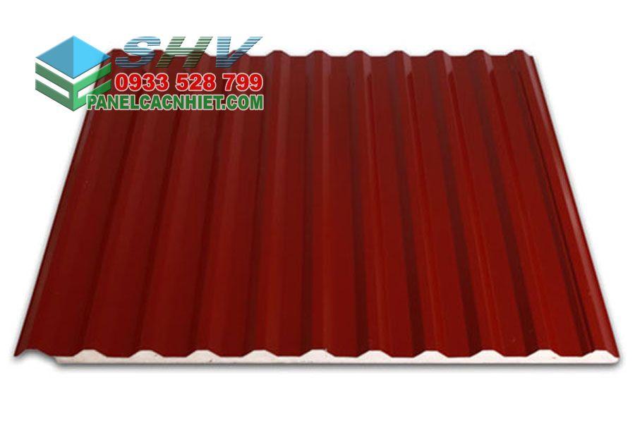 tôn mái 11 sóng màu đỏ