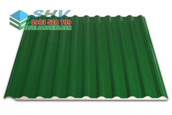mái tôn 11 sóng xanh rêu