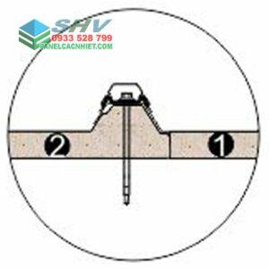 cấu tạo lockvit mái tôn 3 lớp lõi xốp