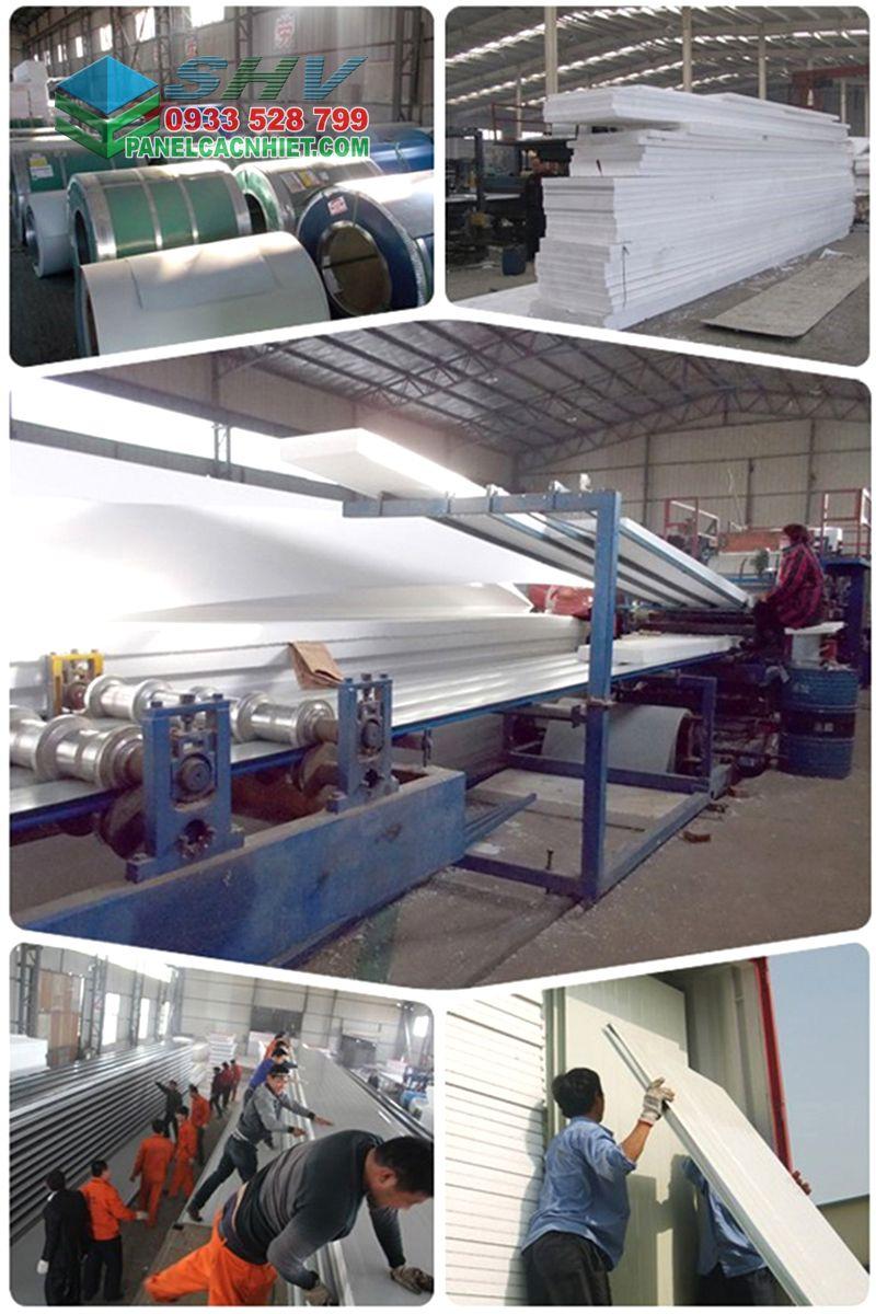 dây chuyền sản xuất tôn mái lõi xốp