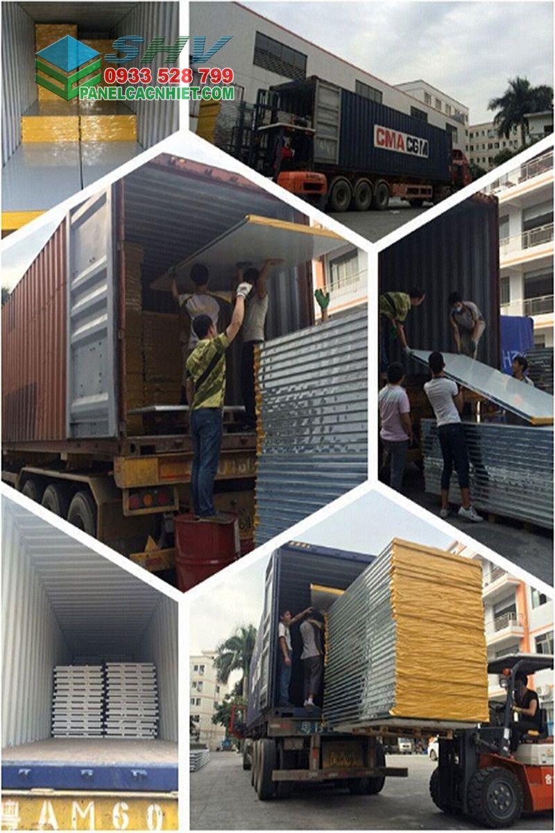 đóng gói vận chuyển tôn mái