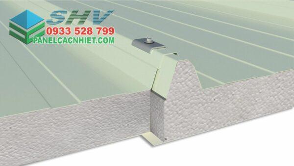 khớp liên kết mái tôn 3 lớp lõi xốp