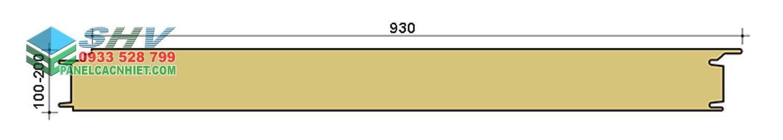 mặt cắt panel bông thủy tinh tấm gân