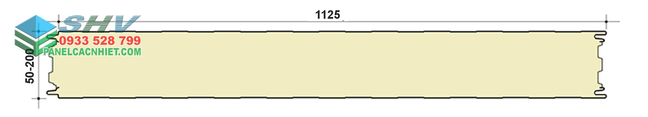 mặt cắt panel pu tấm sóng