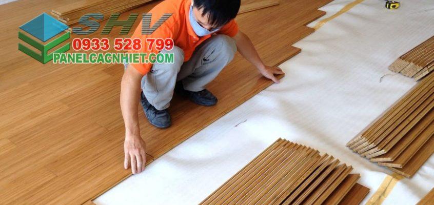 mút xốp lót sàn gỗ