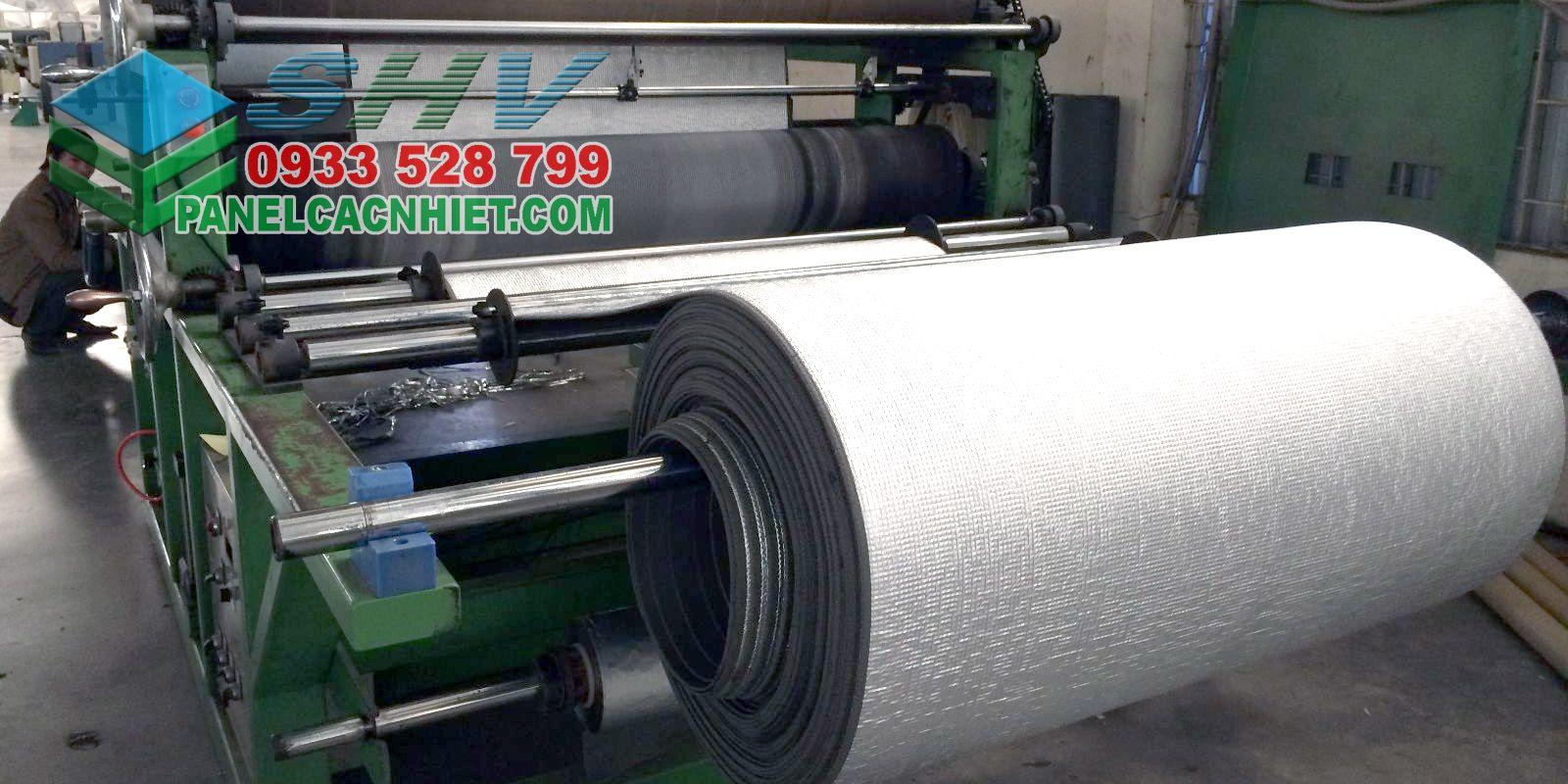 sản xuất mút cách nhiệt 1 mặt bạc