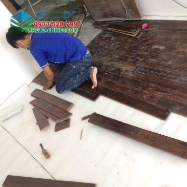 Các bước thi công mút xốp lót sàn gỗ